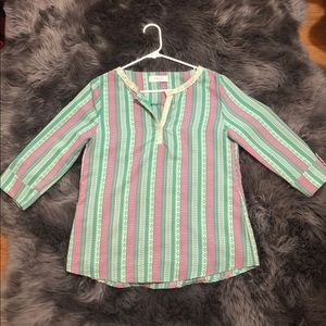 Peach Love Striped Blouse